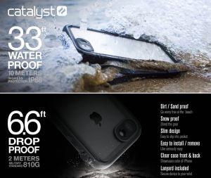 Водонепроницаемый чехол для iPhone 8/7 (4.7'') Catalyst Waterproof Case (CATIPHO8BLK)