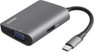 Переходник Baseus Adapter Enjoyment USB-C to VGA+ USB 3.0 HUB Gray (CATSX-E0G)