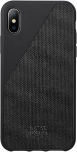 Чехол для iPhone X Native Union Clic Canvas Black (CCAV-BLK-CV-NP17)