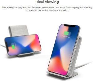 Беспроводное зарядное устройство с функцией подставки iOttie iON Wireless Fast Charging Stand Tan (CHWRIO104TNEU)