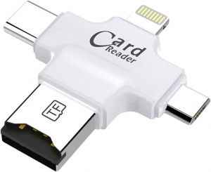 Кардридер COTEetCI 4 in 1 Card Reader White (CS5125-WH)