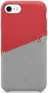 Кожаный чехол для iPhone 8/7/6/6S (4.7'') DECODED Leather Back Cover Red Grey (DA6IPO7SO1RDGY)