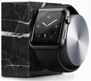 Подставка с поддержкой функции док-станции для Apple Watch Native Union Dock for Apple Watch Marble Edition (DOCK-AW-MB-BLK)