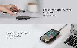 Беспроводное зарядное устройство Native Union Drop Wireless Charger Fabric Slate (DROP-GRY-FB)