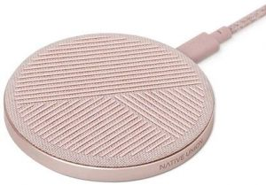 Беспроводное зарядное устройство Native Union Drop Wireless Charger 10W Fabric Rose (DROP-ROSE-FB-V2)