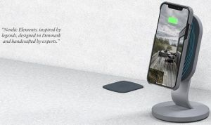 Беспроводное зарядное устройство + настольный держатель для смартфонов Nordic Elements Thor Wireless Desktop Charger 10W Gray (E10569)