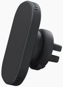 Автодержатель (до 7'') с беспроводным зарядным устройством Nordic Elements Thor Wireless Car Airvent Charger 10W Black (E10570)