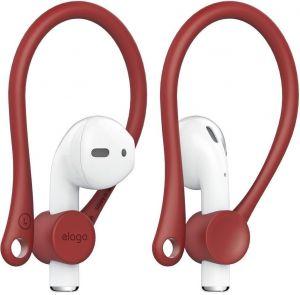 Держатели (на уши) для AirPods 2/1 Elago Earhook Red for Airpods (EAP-HOOKS-RD)