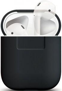 Силиконовый чехол для зарядного кейса AirPods 1 (2016) Elago Silicone Case Black for Airpods (EAPSC-BK)