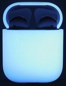 Силиконовый чехол для зарядного кейса AirPods 1 (2016) Elago Silicone Case Nightglow Blue for Airpods (EAPSC-LUBL)