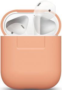 Силиконовый чехол для зарядного кейса AirPods 1 (2016) Elago Silicone Case Peach for Airpods (EAPSC-PE)