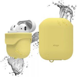 Водонепроницаемый чехол для зарядного кейса AirPods 1 (2016) Elago Waterproof Case Creamy Yellow for Airpods (EAPWF-BA-CYE)