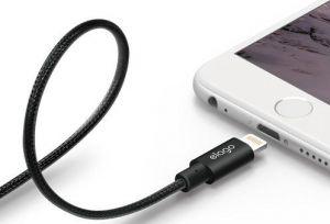 Кабель Elago Aluminum Lightning Cable Black (ECA-ALBK-IPL)