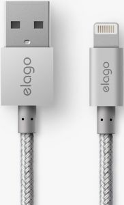 Кабель Elago Aluminum Lightning Cable Silver (ECA-ALSL-IPL)