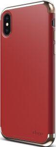 Чехол для iPhone X Elago Empire Case Chrome Rose Gold/Red (ES8EM-RGDRD)