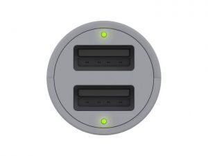Автомобильное зарядное устройство Griffin Premium PowerJolt 12W x 2 Universal - Black/Gray (GC43266)