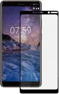 Защитное стекло для Nokia 7 Plus PowerPlant Full screen Black