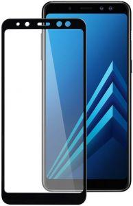 Защитное стекло для Samsung Galaxy A8 2018 (A530) PowerPlant Full screen Black