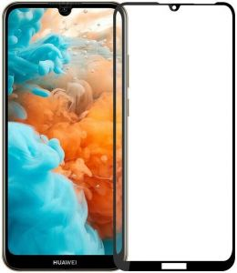 Защитное стекло для Huawei Y6 (2019) PowerPlant Full Screen Black (GL606528)