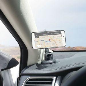 Автодержатель (до 7'') с гибкой трубкой Macally Car Suction Mount With Magnetic iPhone/Smartphone Holder Black (MGRIPMAGXL)