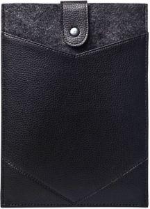 Чехол-конверт войлочный с кнопкой для планшетов с диагональю 9.7'' - 11'' с экокожей Gmakin Black (GT01)