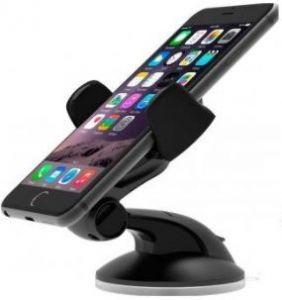 Автодержатель для iPhone X/XS/8/7/6S/6/SE/5S/5C iOttie Easy Flex 3 Car Mount Holder Desk Stand Black (HLCRIO108BK)