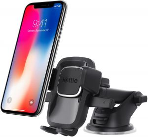 Автодержатель для iPhone X / XS / XR / XS Max / 8 Plus / 8 / 7 Plus / 7 / 6 Plus / 6 / SE / 5 iOttie Easy One Touch 4 Dash & Windshield Mount (HLCRIO125)