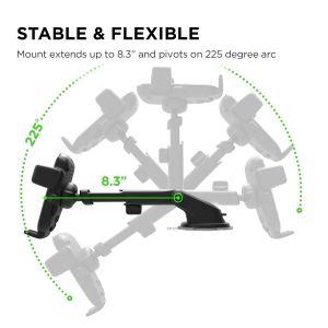 Автодержатель с беспроводным и автомобильным зарядным устройством для iPhone X/ XS / XR / XS Max / 8 Plus / 8 / 7 Plus / 7 / 6 Plus / 6 / SE / 5 iOttie Easy One Touch 4 Qi Wireless Fast Charging Mount (HLCRIO134)