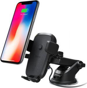 Автодержатель с беспроводным и автомобильным зарядным устройством для iPhone X / 8 Plus / 8 / 7 Plus / 7 / 6 Plus / 6 / SE / 5 iOttie Easy One Touch 4 Qi Wireless Fast Charging Mount (HLCRIO134)