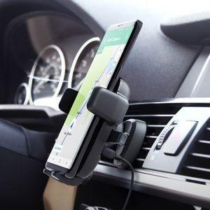 Автомобильный держатель с беспроводным зарядным устройством iOttie Easy One Touch 4 Qi Wireless Charging Vent Mount (HLCRIO135)