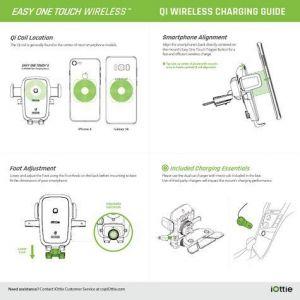 Автомобильный держатель с беспроводным зарядным устройством iOttie Easy One Touch 4 Qi Wireless Charging CD Mount (HLCRIO136)