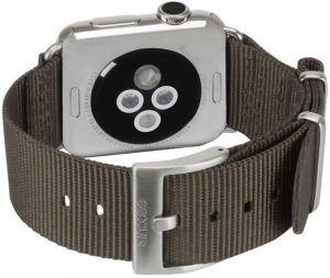Нейлоновый ремешок для Apple Watch 38/40mm Incase Nylon Nato Band Anthracite (INAW10011-ANT)