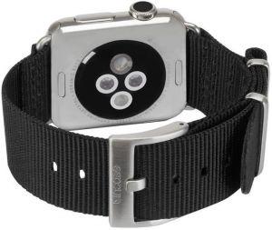 Нейлоновый ремешок для Apple Watch 38/40mm Incase Nylon Nato Band Black (INAW10011-BLK)
