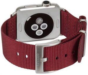 Нейлоновый ремешок для Apple Watch 38/40mm Incase Nylon Nato Band Deep Red (INAW10011-DRD)