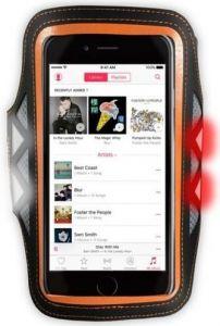Спортивный чехол со светодиодами для смартфонов с дисплеем 4.7'' - 5'' XtremeMac Sportwrap LED (IPP-SLD-13)