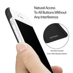 Сверхпрочный чехол для iPhone 8/7 (4.7'') Pitaka Aramid Case Black/Grey (K17001)