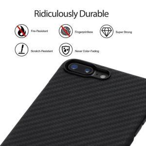 Сверхпрочный чехол для iPhone 8 Plus / 7 Plus (5.5'') Pitaka Aramid Case Black/Grey (K17002S)