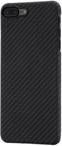 Сверхпрочный чехол для iPhone 8 Plus / 7 Plus (5.5'') Pitaka Aramid Case Black/Grey (K17002S)