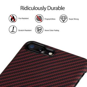 Сверхпрочный чехол для iPhone 8 Plus / 7 Plus (5.5'') Pitaka Aramid Case Black/Red for iPhone 8 Plus/7 Plus (KI8003S)