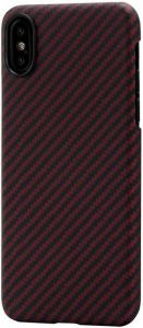 Сверхпрочный чехол для iPhone XS/X Pitaka Aramid Case Black/Red (KI8003XS)