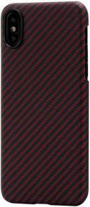 Сверхпрочный чехол для iPhone XS/X Pitaka Aramid Case Black/Red (KI8003X)