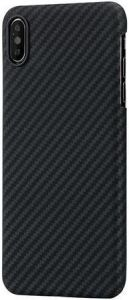 Сверхпрочный чехол для iPhone XS MAX (6.5'') Pitaka Aramid Case Black/Grey (KI9001XM)