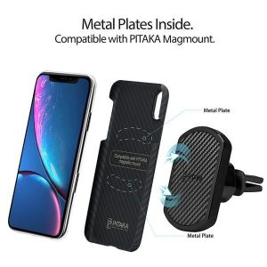 Сверхпрочный чехол для iPhone XR (6.1'') Pitaka Aramid Case Black/Grey (KI9001XR)