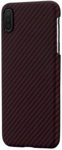 Сверхпрочный чехол для iPhone XS MAX (6.5'') Pitaka Aramid Case Black/Red (KI9003XM)