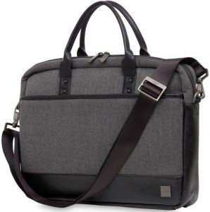 """Сумка для ноутбуков с диагональю до 15'' Knomo Princeton Laptop Briefcase 15.6"""" Grey (KN-43-201-BKG)"""