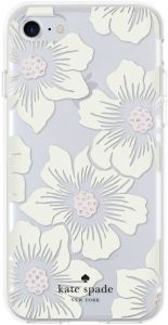 Чехол для iPhone 8 / 7 (4.7'') Kate Spade New York Protective Hardshell Hollyhock Floral Clear/Cream (KSIPH-055-HHCCS)
