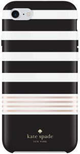 Чехол для iPhone 8 / 7 (4.7'') Kate Spade New York Protective Stripe 2 Black/White/Gold (KSIPH-055-STBWG)