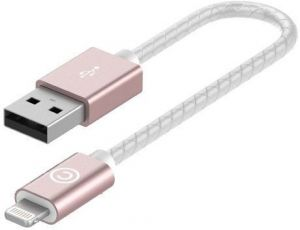 Кабель Lab.C 510 Lightning Leather Cable A.L (0.15m) Rose Gold (LABC-510-RG)