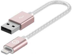 Кабель Lab.C 510 Lightning Leather Cable A.L (0.15m) Rose Gold (LABC-510-RG)