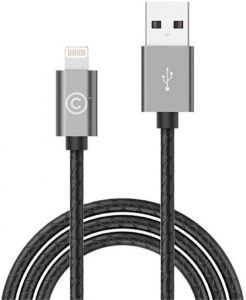 Кабель Lab.C 511 Lightning Leather Cable A.L Space Grey (1.8 m) (LABC-511-GR)